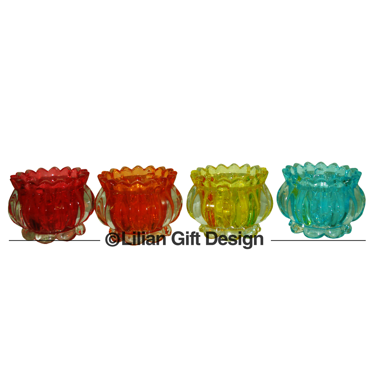 Castiçal vidro color 9cm