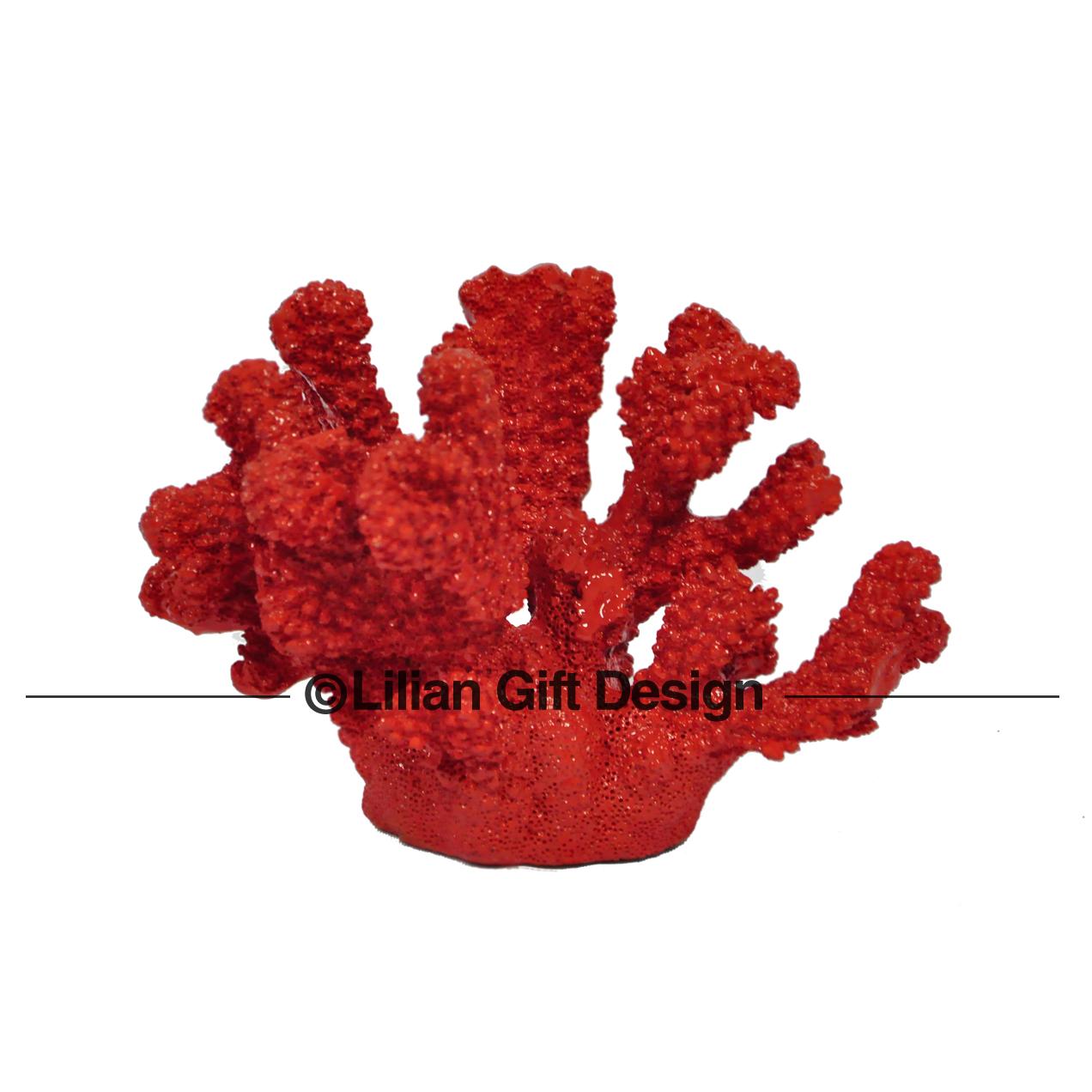 Coral resina 15.5cm.