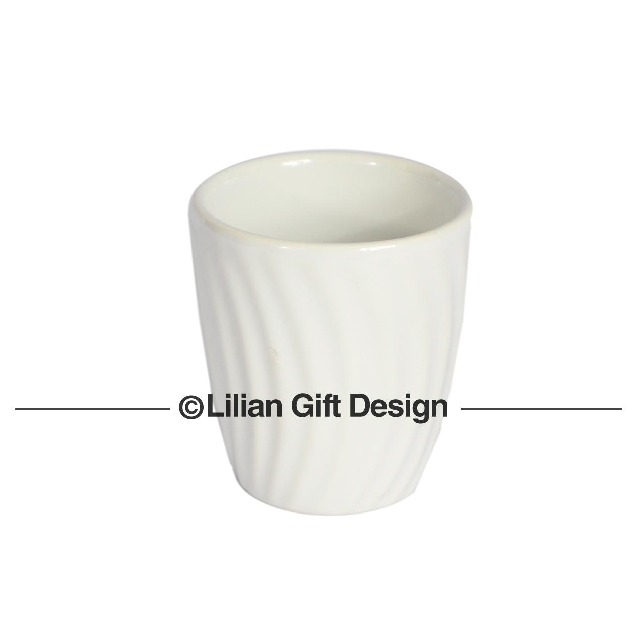 Vaso cerâmica branco 7.5x7cm