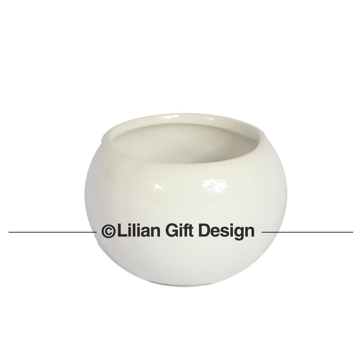 Vaso cerâmica branco 4.5x4.5cm