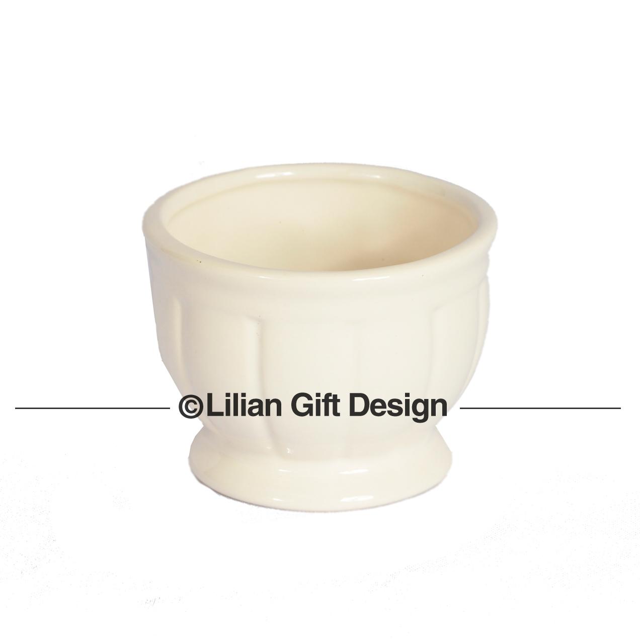 Vaso cerâmica branco 8.5x6cm