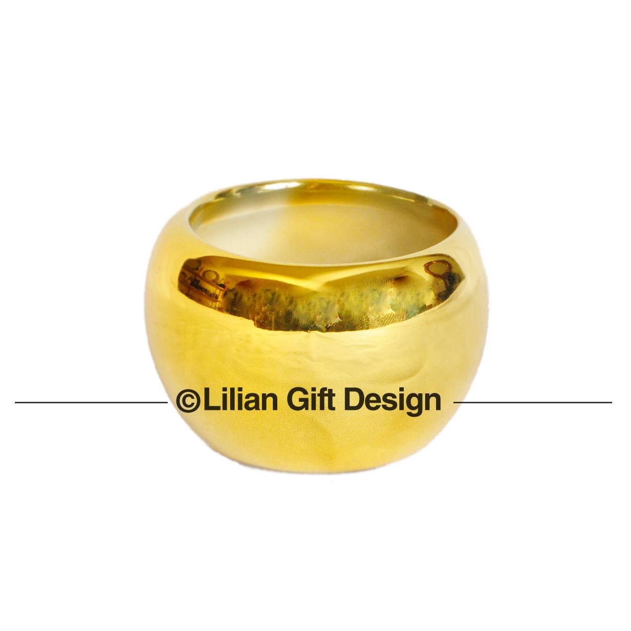 Vaso cerâmica dourado 4.5x4.5cm