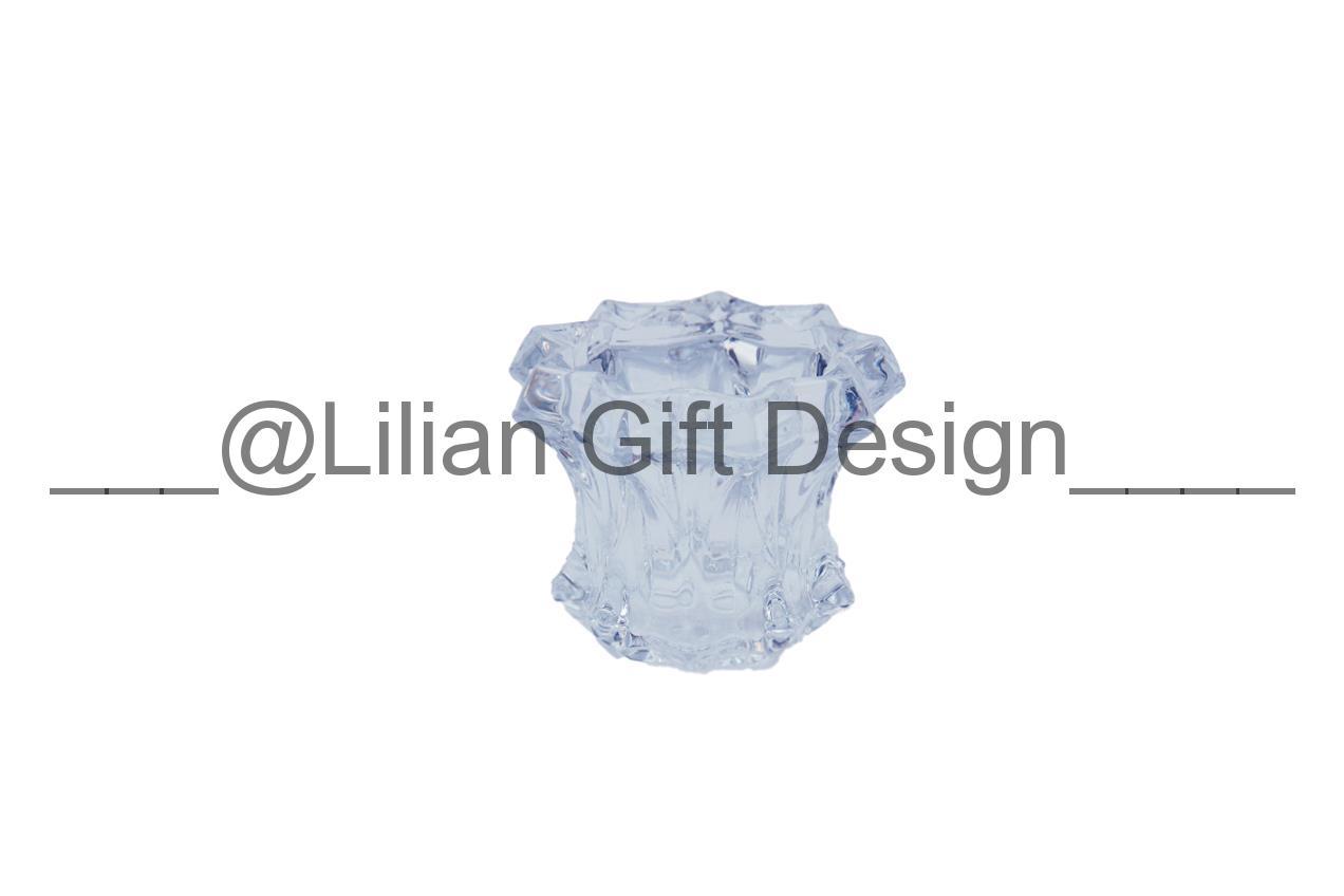 Castiçal de vidro 6,5 cm - 1