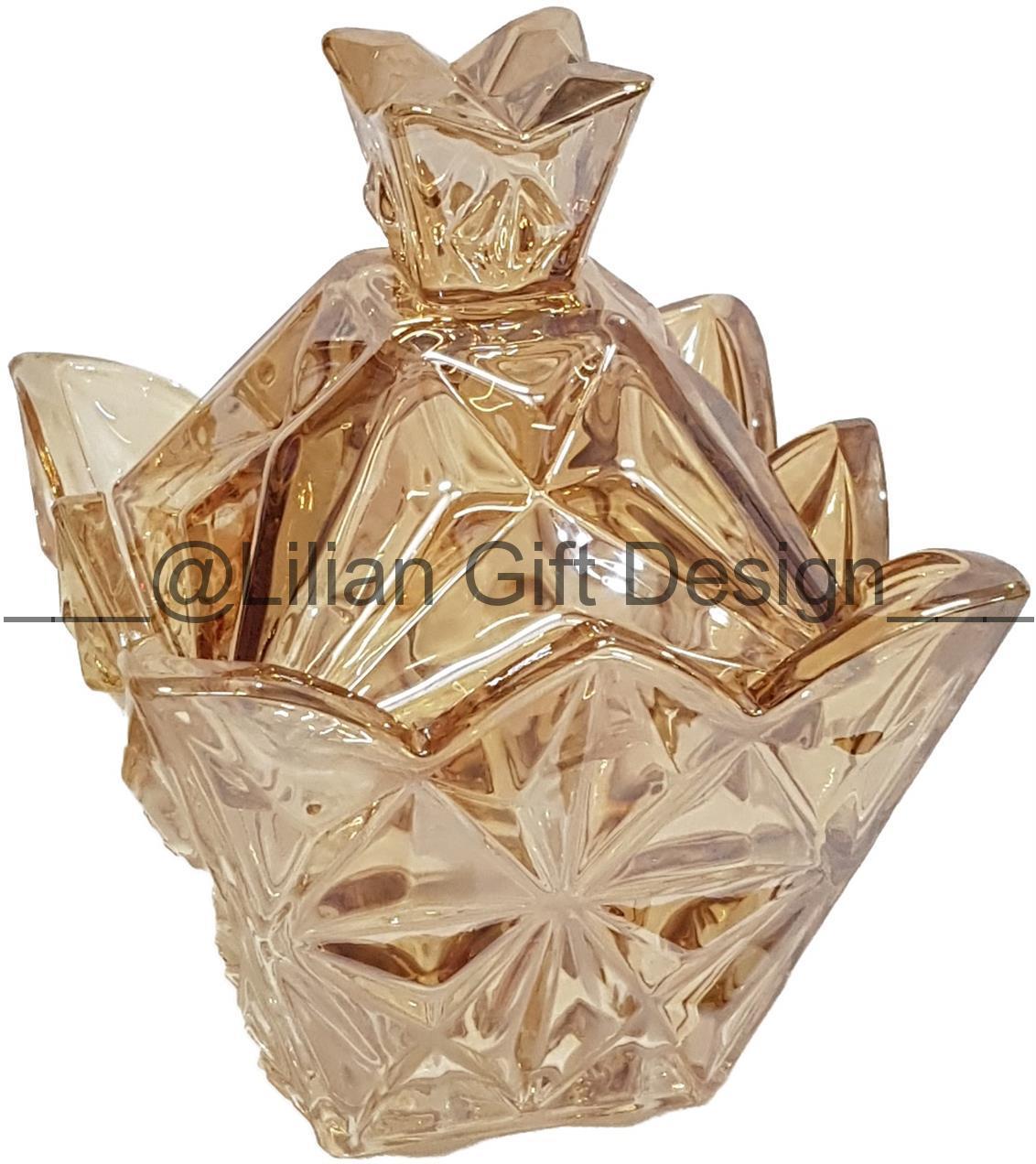 Vaso de vidro 13,5 x 10 cm.
