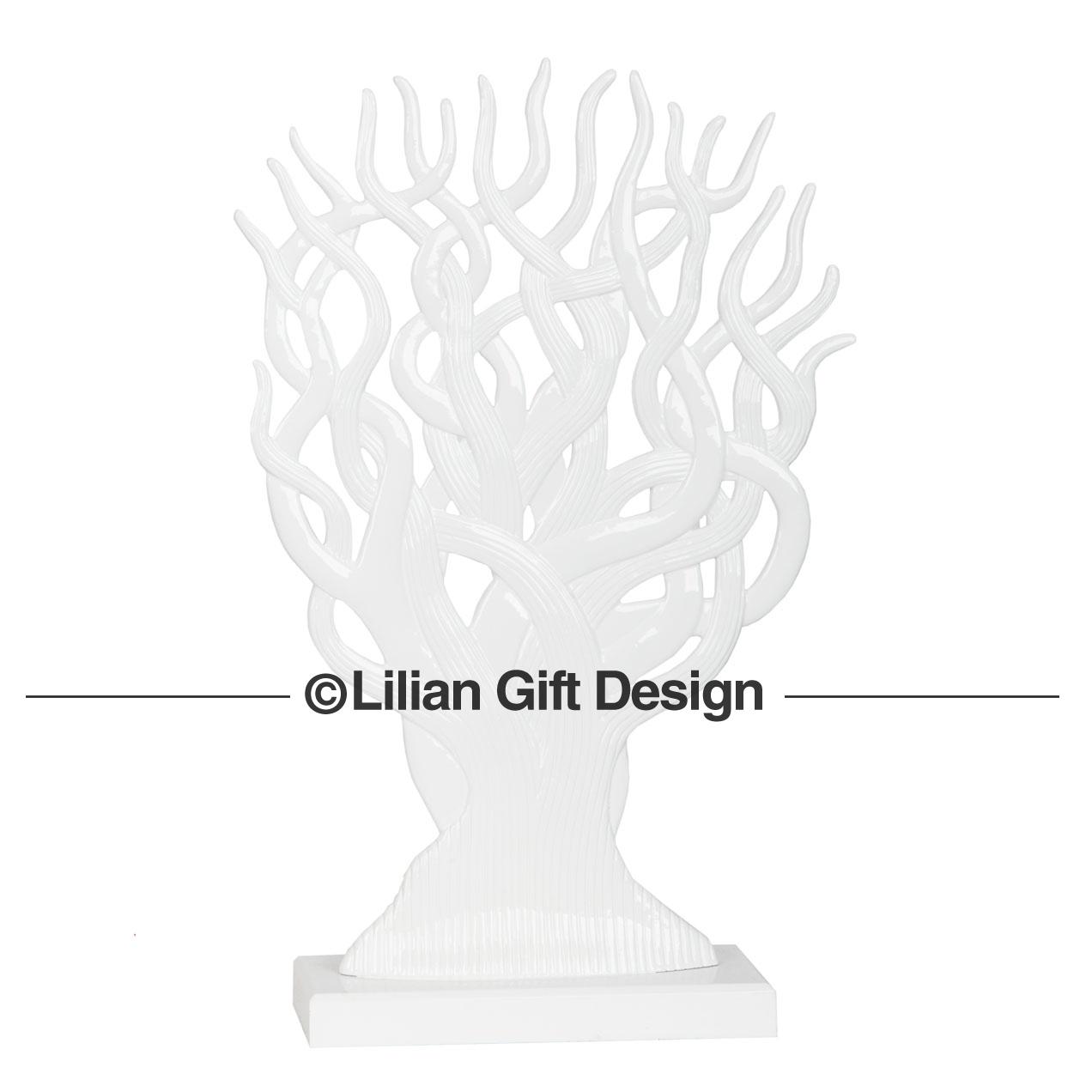 Árvore resina branca 47cm cf1130005-a02